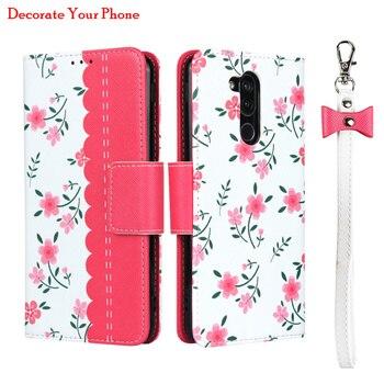 Перейти на Алиэкспресс и купить Элегантный Кожаный чехол-бумажник с цветочным узором для LG style2 L-01L 360, защитный чехол с магнитной пряжкой и откидной крышкой для LG style 2 L-01L, ро...
