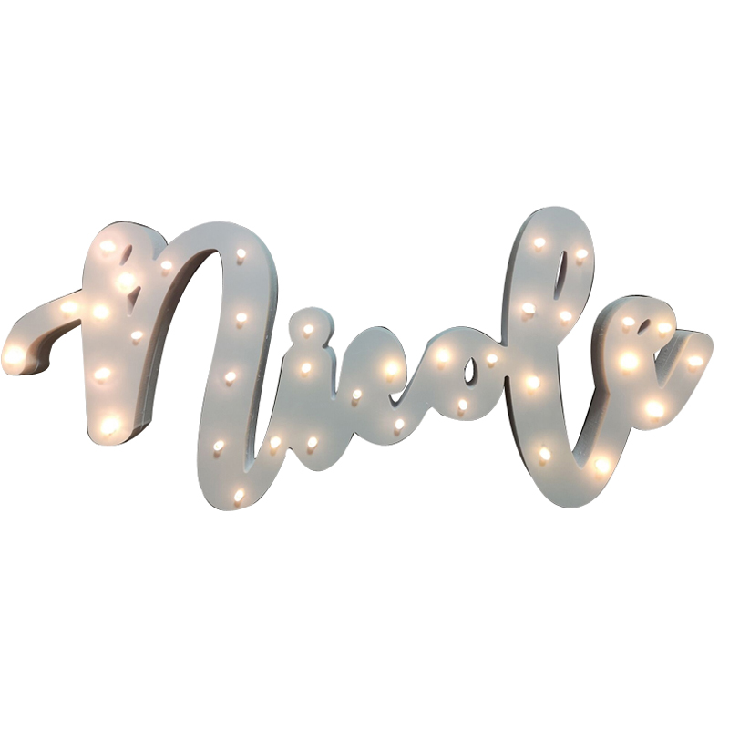 Custom Name LED Lamp Sign Marquee Light Up Night  Grow Light Wall Decoration For Bedroom Wedding Ornaments Lights