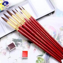Красная ручка для акварели paul rubens пекарский лак из бычьей