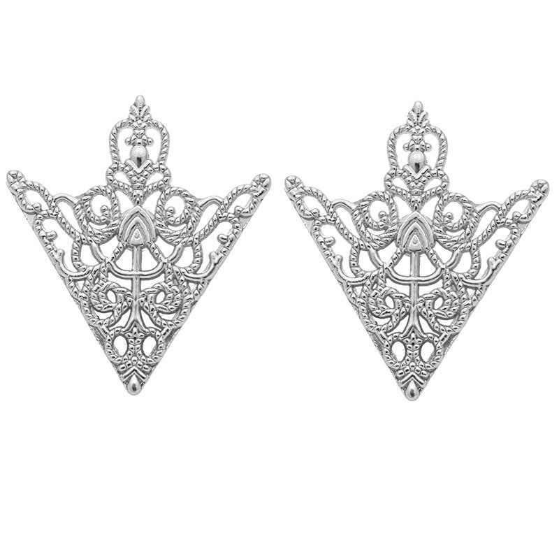 I-Remiel винтажная модная треугольная булавка для воротника рубашки для мужчин и женщин, выдолбленная корона, брошь, угловая эмблема, ювелирные аксессуары