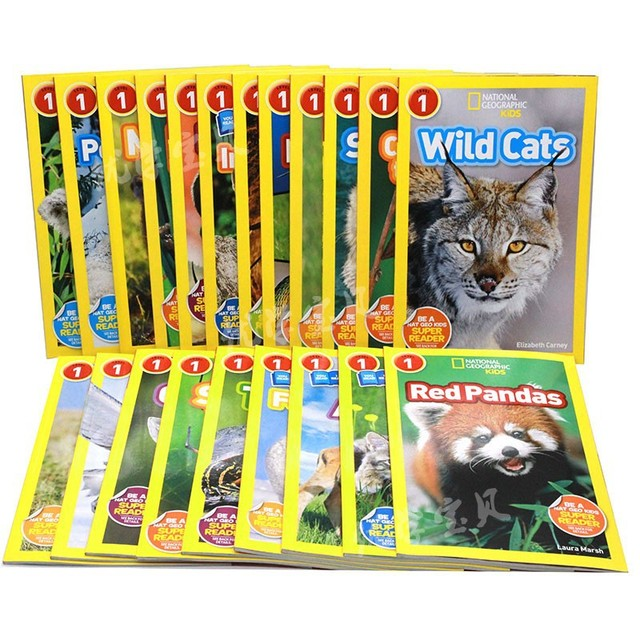 25 books set English picture book National Geographic Kids level 1 be a NAT GEO kids