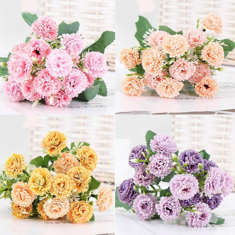 Barato artificial peônia chá rosa camélia seda falso flors diy casa jardim decoração de casamento