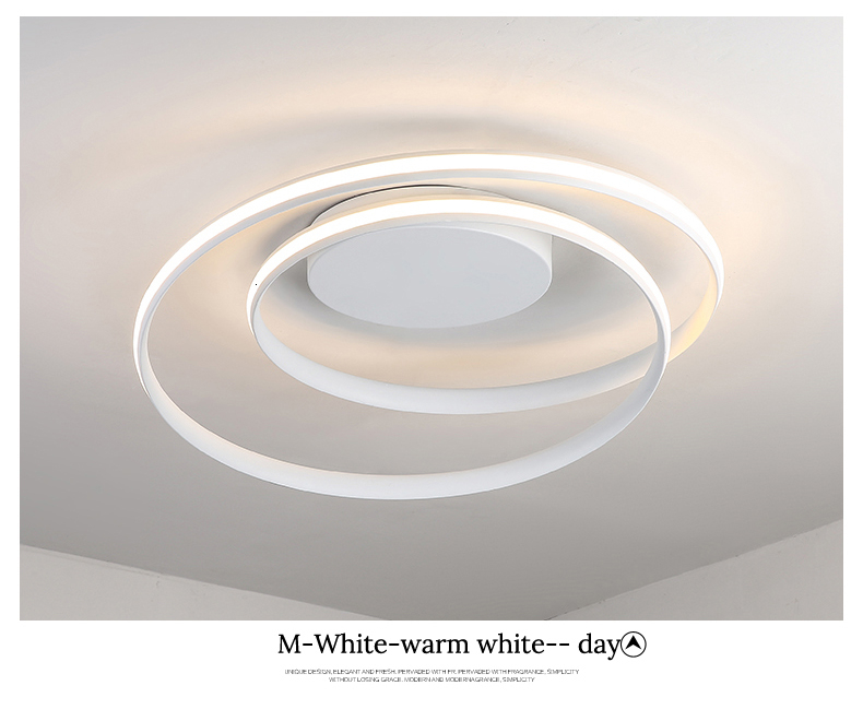 H2f8ecab5f0a648528585de184df76d9ed Modern Ceiling Lights LED Lamp For Living Room Bedroom Study Room White black color surface mounted Ceiling Lamp Deco AC85-265V