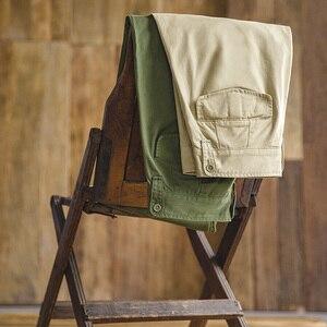 Image 5 - Maden Retro styl wojskowy luźne spodnie wojskowe p37 klasyczna prosta duża kieszeń dorywczo spodnie męskie