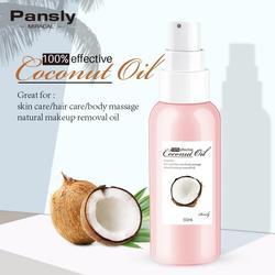 50ml condicionadores shampoo óleo de coco maquiagem óleo de argan puro cuidados com os cabelos da pele óleo massagem cuidados com os cabelos estilo beleza tslm1