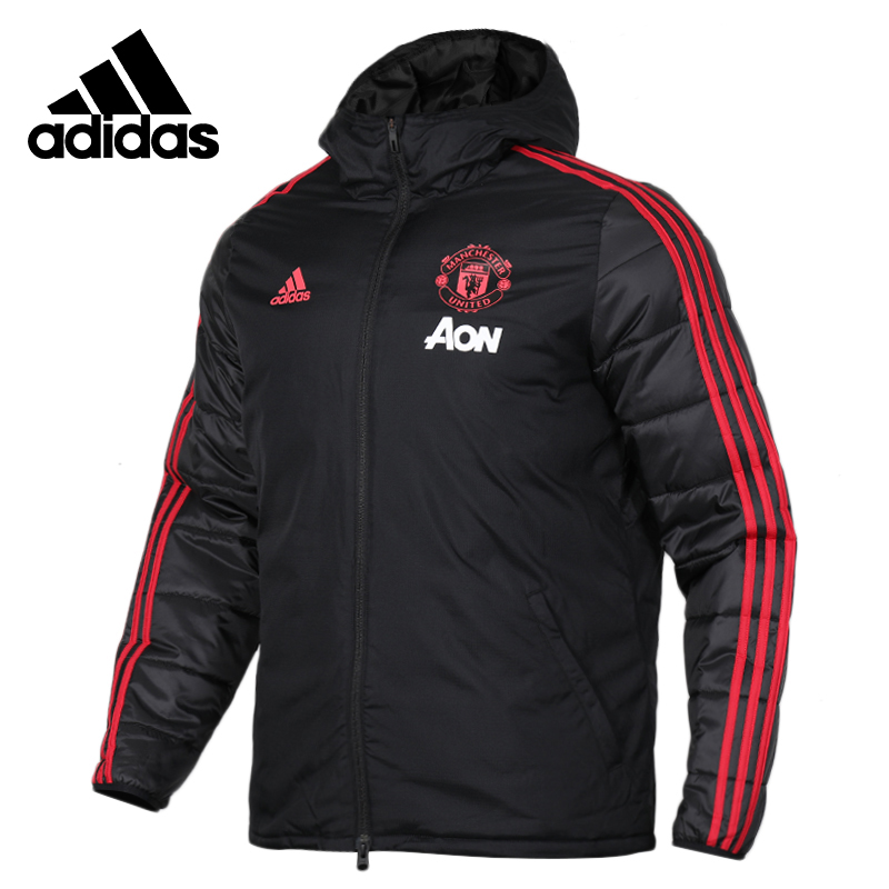 Adidas Neo MUFC WINT JK Black Mens Running Jas Sport Kleding Wind-proof Hoodies Comfortable