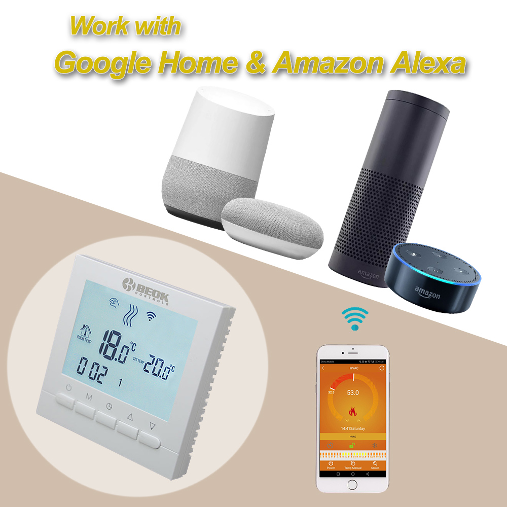 Image 2 - Programmable Room Heating Boiler WIFI Thermostat Digital Temperature Controls Regulator Wifi Control Thermostat for Gas Boilers-in Temperature Instruments from Tools