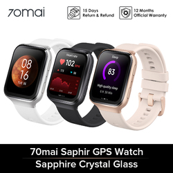 70mai Saphir Smart watches GPS Sport Tracker Heart Rate Monitor IP68 Waterproof 5ATM Resistance Call Reminder Smartwatch APP