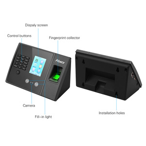 Image 4 - Aibecy Biometric Fingerprint Time Attendance Machine with HD Display Screen Support Face Fingerprint Password Multi language