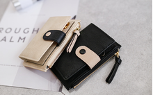 Fashion Leather Key Wallet Women Elegant Key Holder Woman Ladies Zipper & Hasp Key Organizer Card Holder Porta Chaves D988