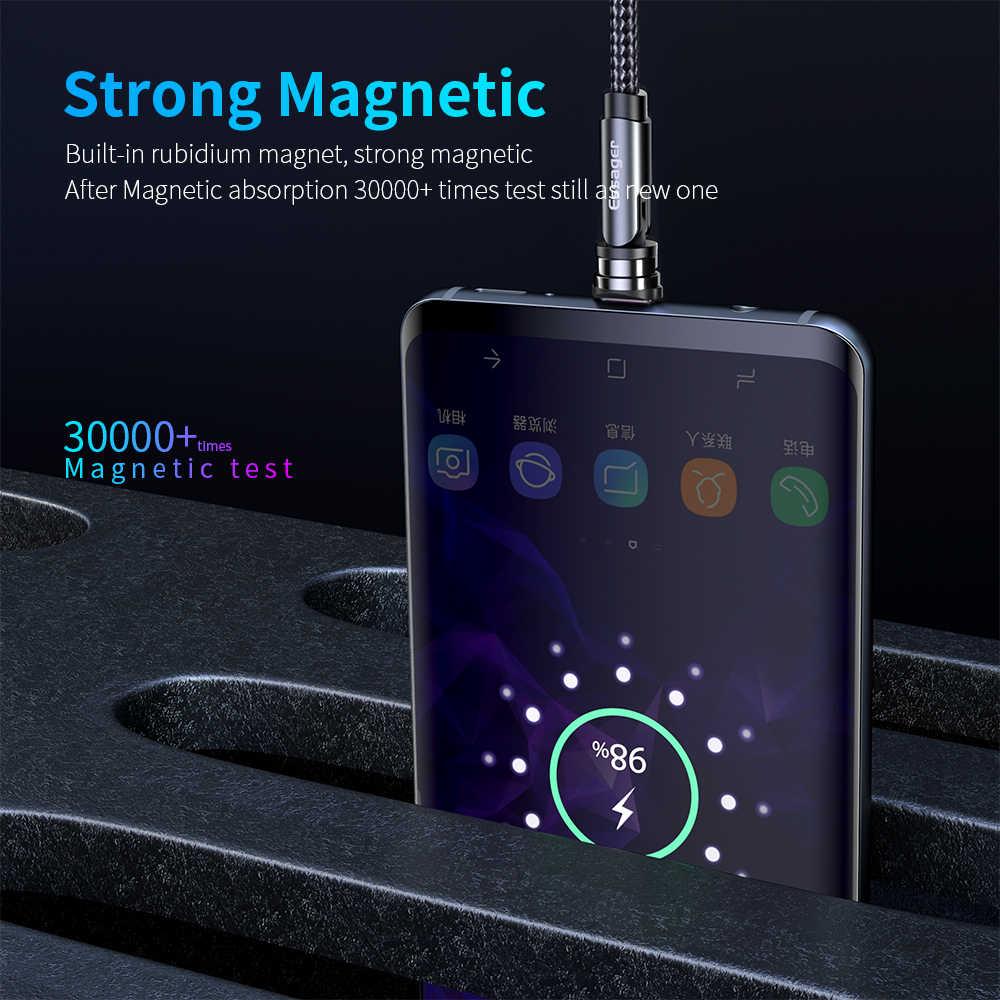 Essager 540 Drehen Magnetischer Kabel Schnelle Lade Magnet Ladegerät Micro USB Typ C Kabel Handy Draht Kabel Für iPhone xiaomi