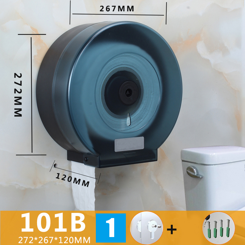 Wall-Mounted Bathroom Tissue Dispenser Paper Towel Storage Box Holder Waterproof Dustproof New HJL2019