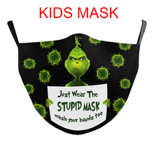 Mouth-Masks Cosplay Washable Christmas The-Grinch Girls Kids Boys Cute School New Stole