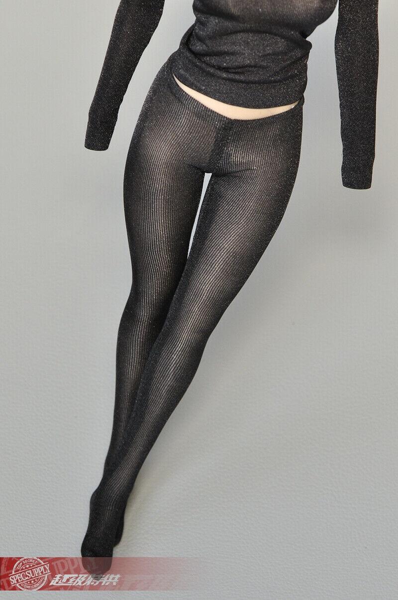 "1//6 Female Clothes Model Stretch Tight Drawstring T-shirt Shirt For 12/"" Body"