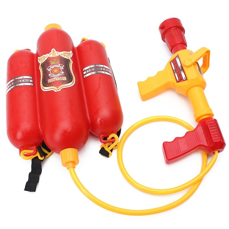 Children Fireman Backpack Nozzle Water Gun Beach Outdoor Toy Extinguisher Soaker T3LA