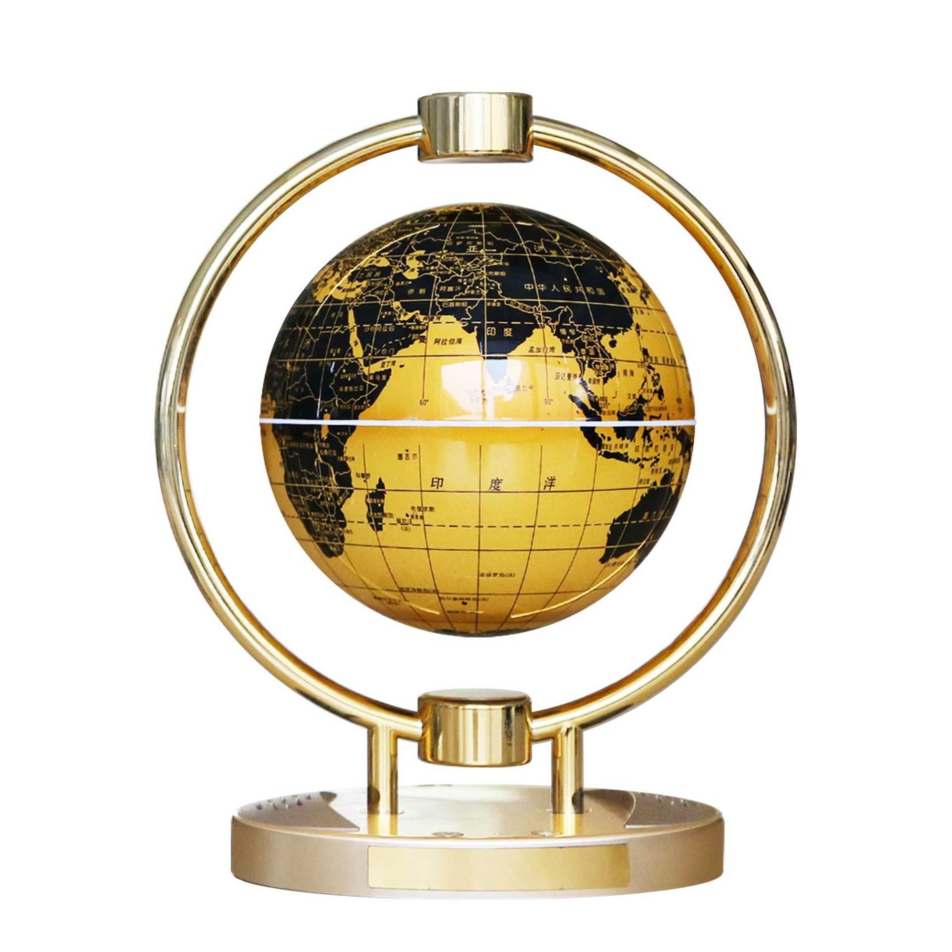 Магнитный левитационный Плавающий глобус, 6 антигравитационная карта мира Созвездие спиннинг шар с сенсорным управлением светодиодный светильник, креативный