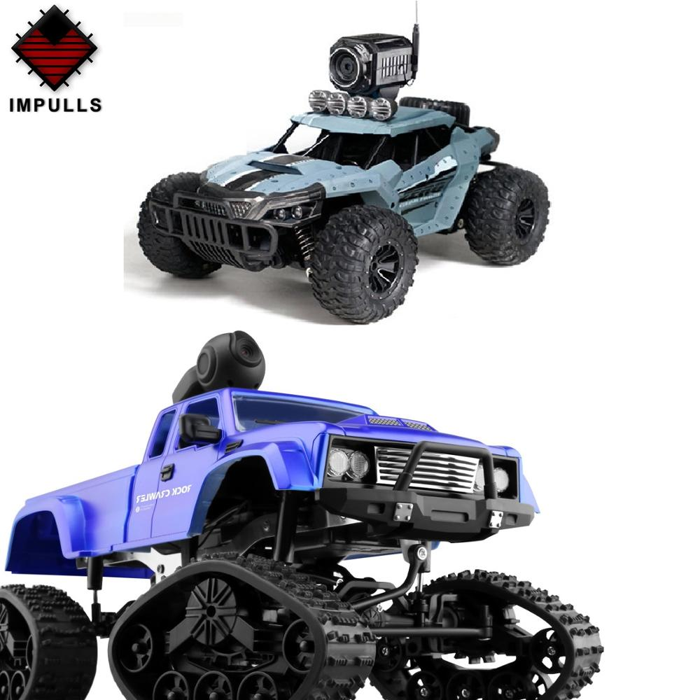 <font><b>Impulls</b></font> New 2.4G Four Drive RC <font><b>Car</b></font> Third Generation Heavy Truck With Camera Track Wheel Wifi Watch High Load Kids Toy FSWB Gift image