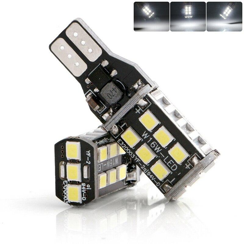 2 шт., автомобильные светодиодные лампы Canbus T15 W16W 921 912 15 SMD 2835