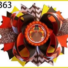 F 100 шт Хэллоуин Бутик банты для волос день благодарения банты для волос осенние банты для волос индейка кандорн банты для волос