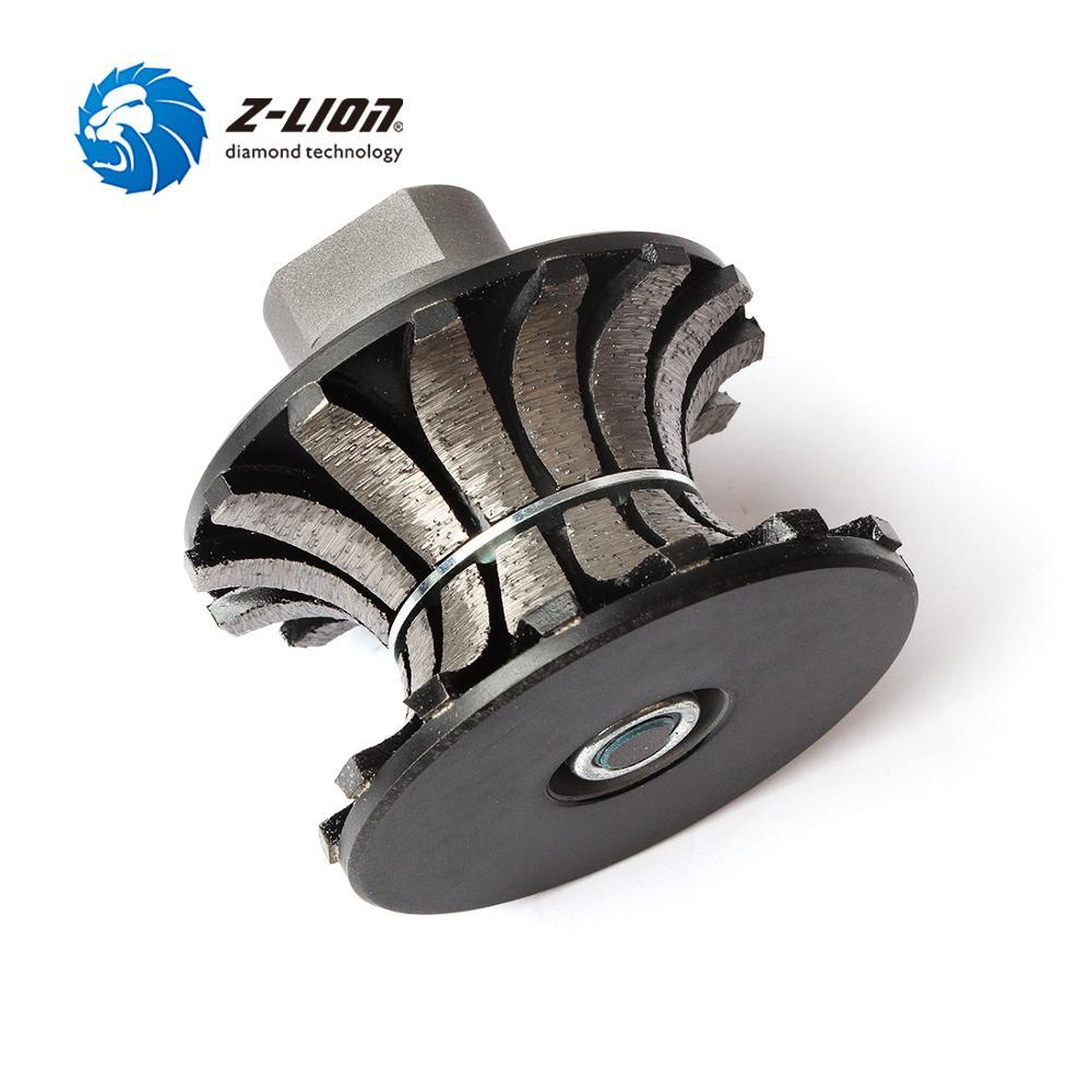 Z-LION V30 Segmented Diamond Router Bit Full Bullnose Profiling Wheel For Hand Tool Granite Marble Router Cutter With Thread M14