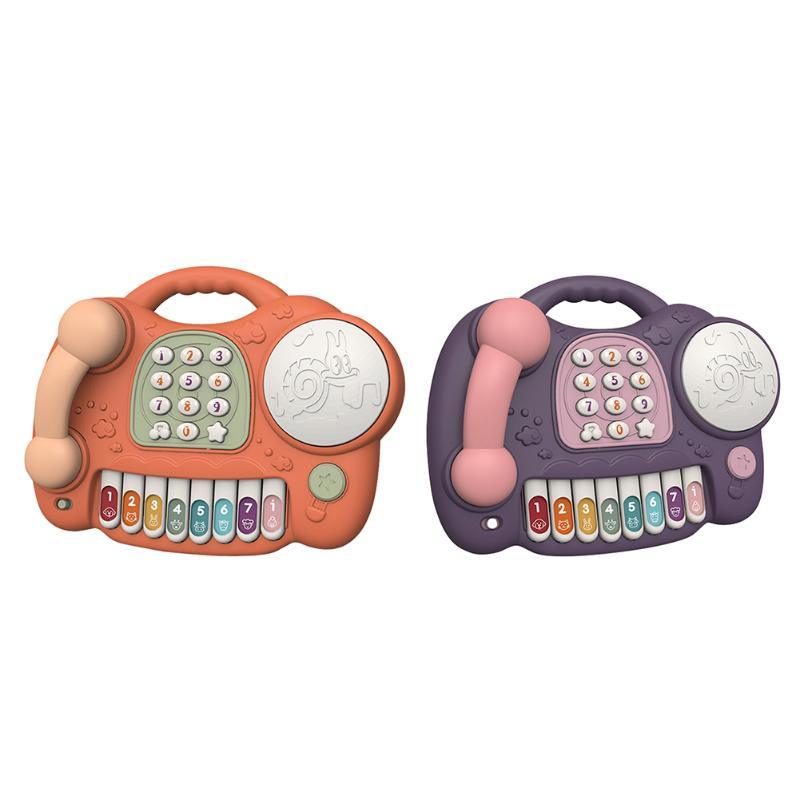 Lovely Music Piano Phone Toy Kids Baby Children Lighting Keyboard Toys Gifts Brain Development Early Learning Toys