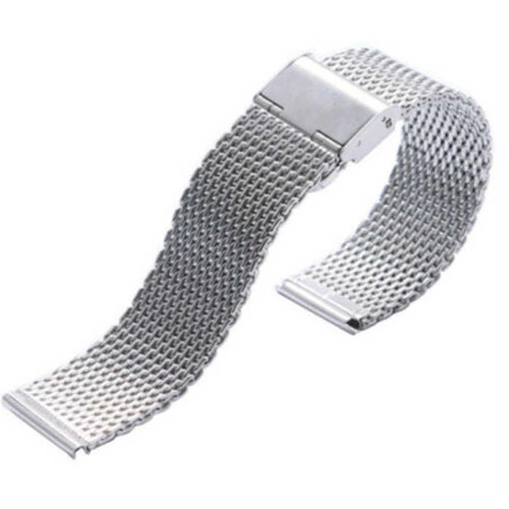 男性 Milanese 時計バンドリンクブレスレット手首ストラップ 20 22 ミリメートルメッシュステンレス鋼女性 20 ミリメートル 22 ミリメートルユニバーサル milanese 時計バンド