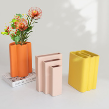 Nordic Geometric Art Ceramic Vase Decoration Model Room Living Room Dining Room Designer Dry Flower Arrangement Decor Vase