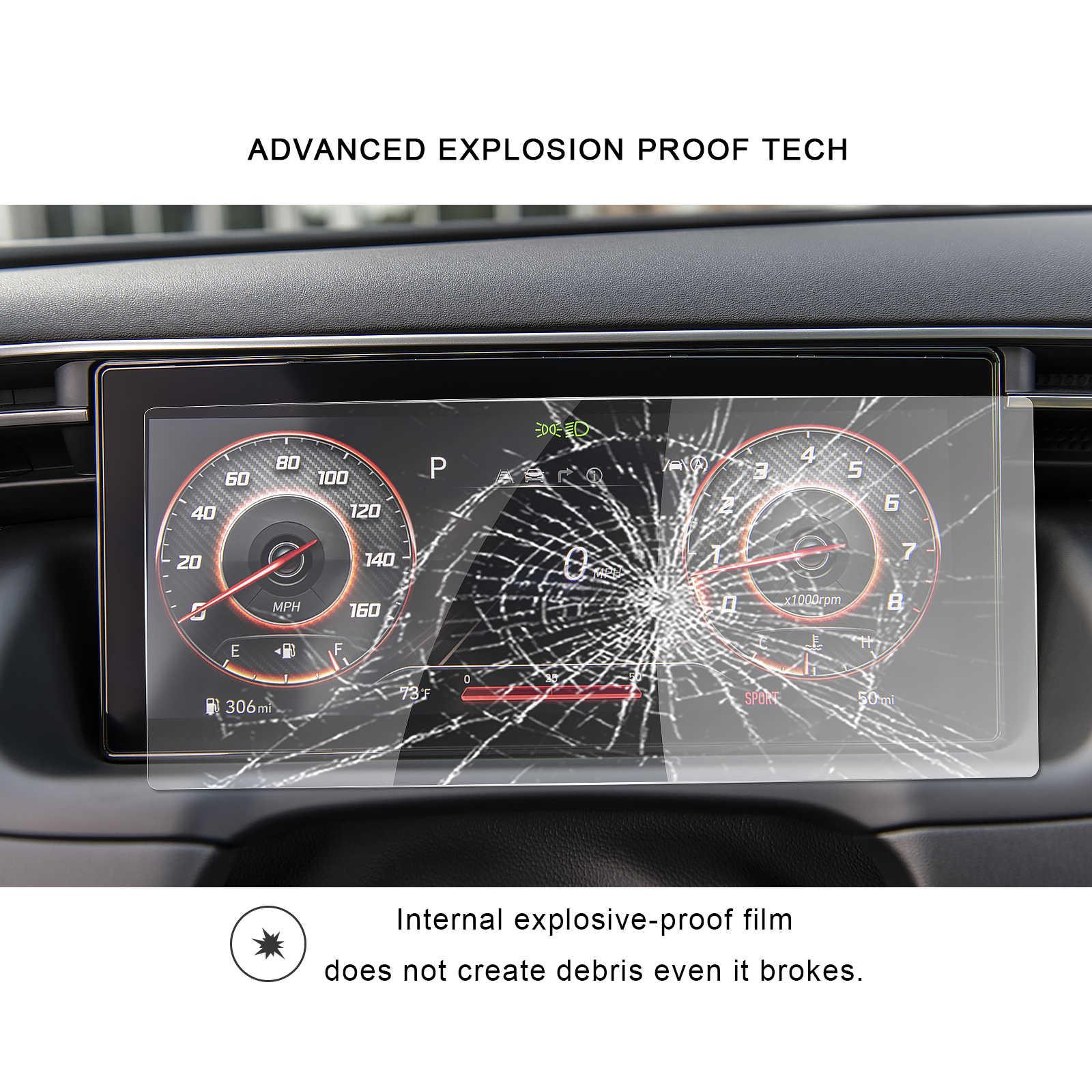 RUIYA автомобильный протектор экрана для Tucson NX4 otali.ru LCD приборная панель экран авто аксессуары для интерьера Закаленное стекло пленка