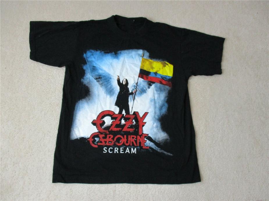 Official Licensed T-Shirt New M L XL 2XL MIDDLE FINGER RAGLAN OZZY OSBOURNE