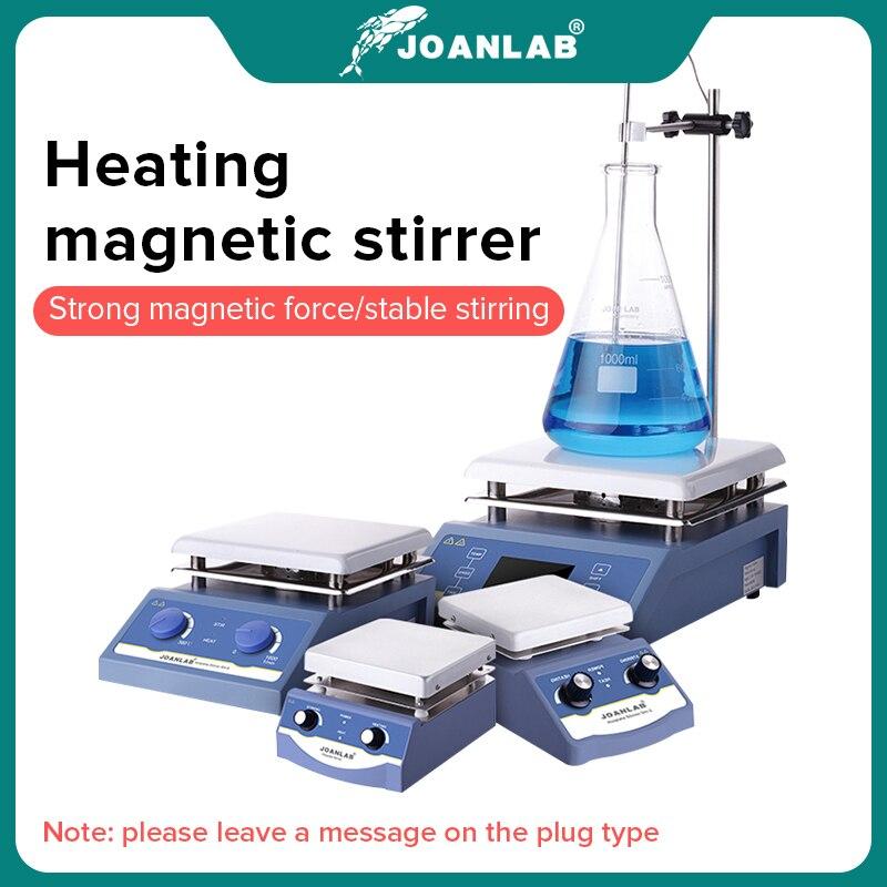 Equipamento magnético 1l 3l 5l do laboratório do misturador magnético da placa quente do agitador do laboratório do aquecimento da loja oficial de joanlab com barra de agitação