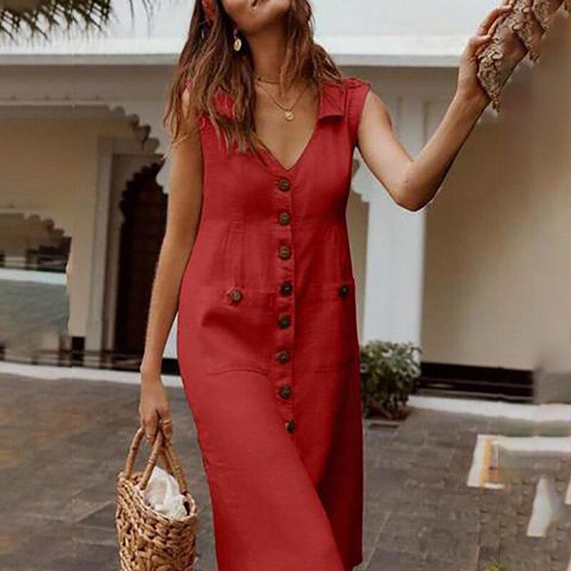 2019 летние женские платья, элегантное платье в горошек в стиле бохо, женское платье с отложным v образным вырезом, платье с карманами на пуговицах, Vestidos|Платья|   | АлиЭкспресс