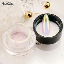 Avelitte Net Red New Naked Aurora Pink Nail Jewelry Magic Mirror Pink Symphony Mirror Flour Nail Decoration Material