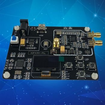 35M-4.4G RF Signal Generator ADF4351 Sweep Frequency OLED Display Development Module Board with USB Cable 35m 4 4ghz phase locked loop pll rf signal source adf4351 generation module development board