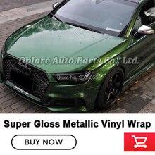 Película de envoltura de vinilo verde sonoma metálica súper brillante de la más alta calidad película de envoltura verde para papel de envoltura de automóviles Garantía de calidad