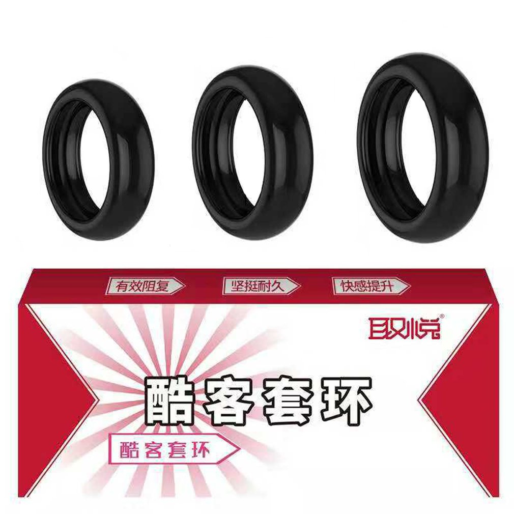3pcs/box Silicone Penis Ring Male Cock Ring Delay Ejaculation Ring Penis Long Lasting Intimate Goods Sex Toys For Men