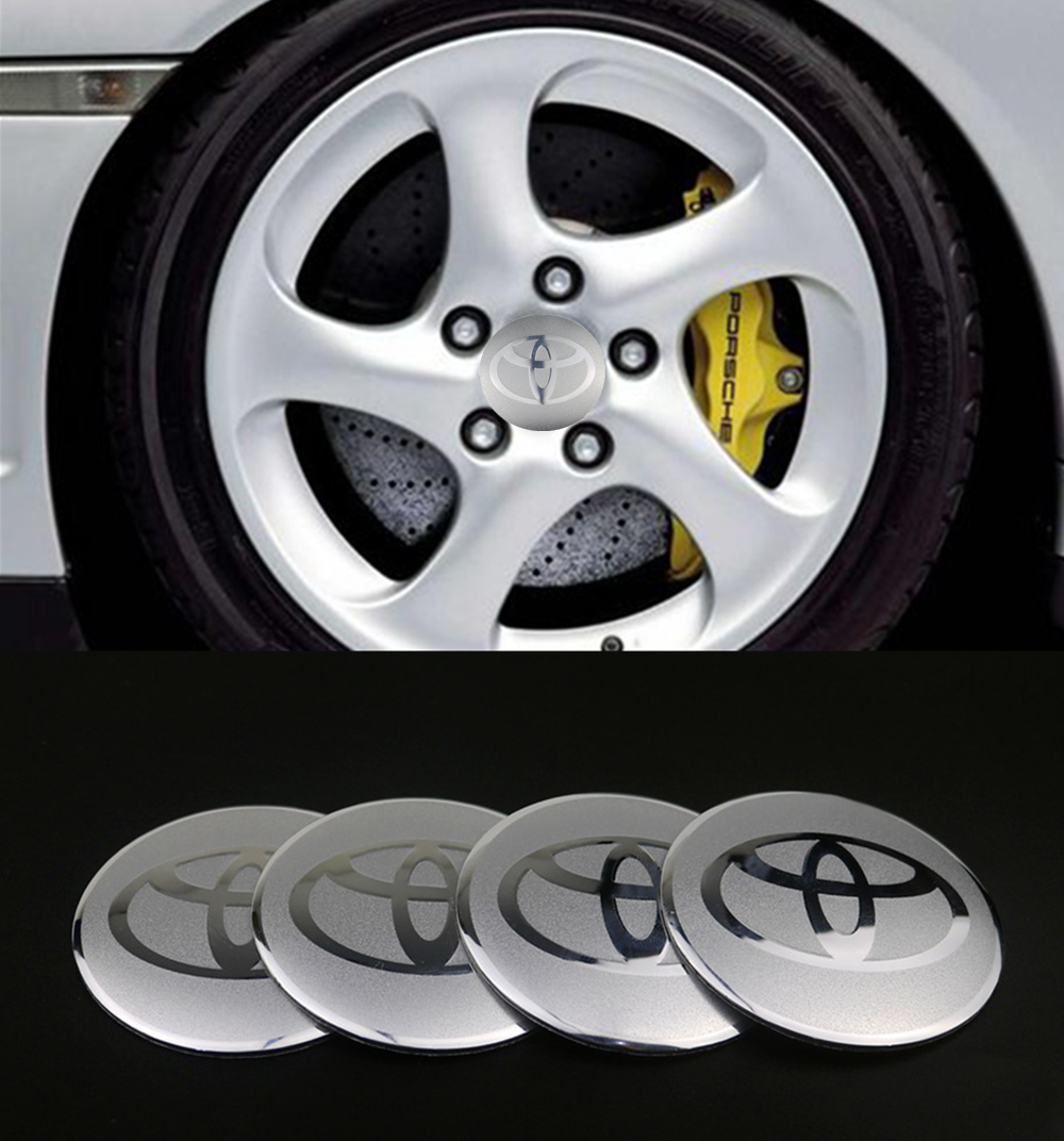 4PCS 56mm Car Styling Tire Wheel Center Hub Caps Covers Sticker For Toyota Camry Chr Corolla Rav4 Yaris Prius Emblem Accessories