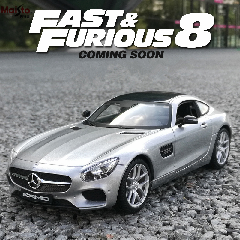 Maisto 1:24 Mercedes-Benz AMG Alloy Racing Convertible Alloy Car Model Simulation Car Decoration Collection Gift Toy