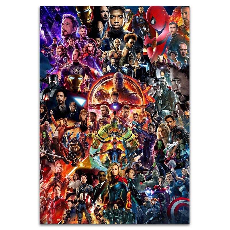 Мстители эндшпиль я Железный человек супергерой холст живопись плакаты и принты спальня квартира картины художественный Декор для гостиной - Цвет: Picture G