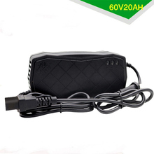 60V 20AH Power Supply Adapter Smart Electric Bike Motorcycle Charger Rechargeable Lead Acid Battery Charger DC 74V 3A US/EU PLUG