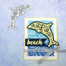 Naifumodo Ocean Dies Dolphin Metal Cutting Dies New 2019 Dies Scrapbooking Card Making Embossing Stencil DieCut Template адаптер moshi usb c multiport adapter silver 99mo084204