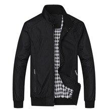 Casual Thin Male Mens Jackets Windbreakers College Bomber Black Windcheater Hommes Varsity Jacket Spring Summer цена