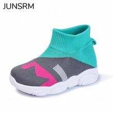 kids Sneakers knit breathable stitching Kinderen Sportschoenen contrast color voor jongens meisjes running shoes socks shoes недорого