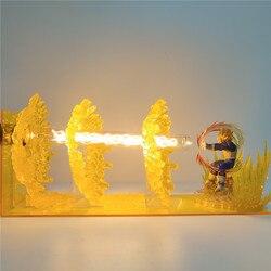 Настольная лампа Dragon Ball Z, ночник, эффект Вегета, DIY, светодиодная сцена, Аниме фигурки, лампа из ПВХ, лампа, светильник DBZ