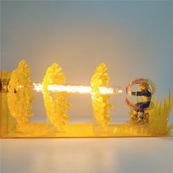 Figuras de acción de Dragon Ball Z, lámpara de mesa con efecto Vegeta, figuras de Anime, modelo en PVC, luminarias de DBZ