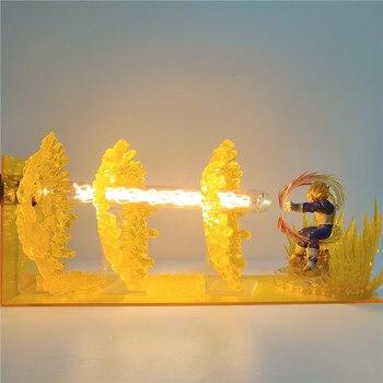 Luces de noche de mesa Dragon Ball Z, efecto Vegeta, figuras de...