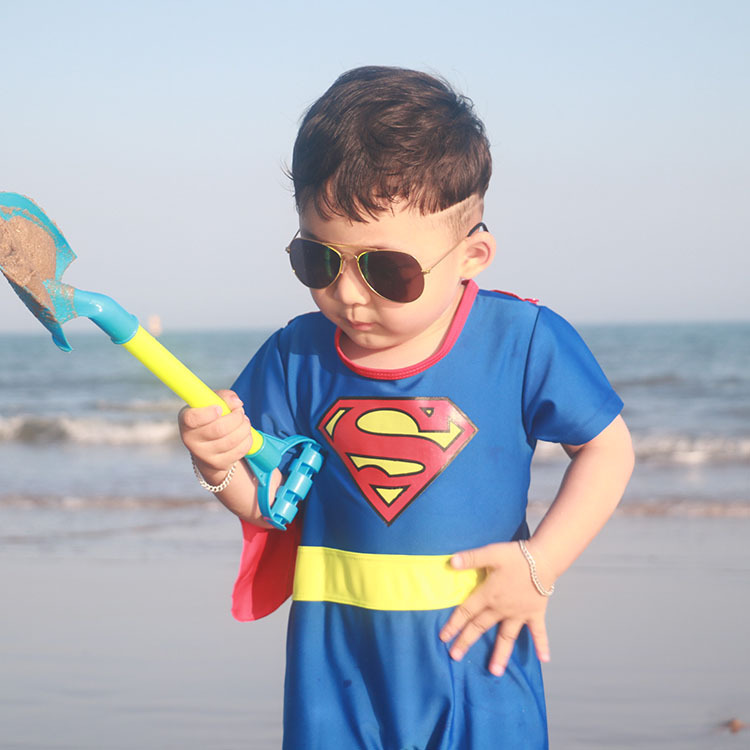 KID'S Swimwear One-piece Hero Series Swimwear BOY'S Baby Performance Clothing Big Boy Hot Springs Clothing Surfing Suit