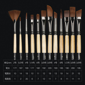 Image 2 - nylon hair of painting brush Iron box Artist Paint Brushes Set for Watercolor Oil Acrylic Gouache Painting