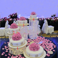 Cake-Stand Wedding-Decoration Crystal Acrylic Romantic 3pcs-6pcs Top-Quality Transparent