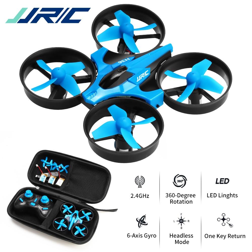 JJRC H36 дрон, мини квадрокоптер, 4-х канальный 6-осевой дрон вертолет на пульте, Возврат одним нажатием в безголовый режим и поворотный светодио...
