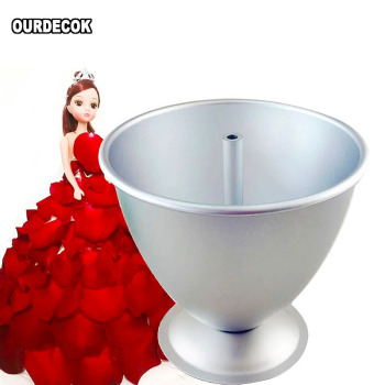 8 Inch Cake Mould 3D Princess Dress Aluminium Baking Tools Mold for Fondant Cake Decorating with Doll patisserie moules a gateau